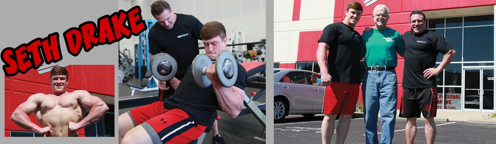 seth drake lifting weights